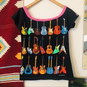 Vintage Upcycled Guitar Shirt